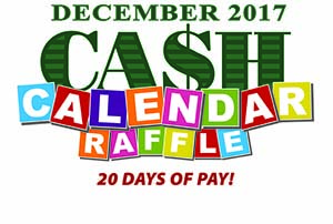 Ca$h Calendar raffle: 20 days of pay