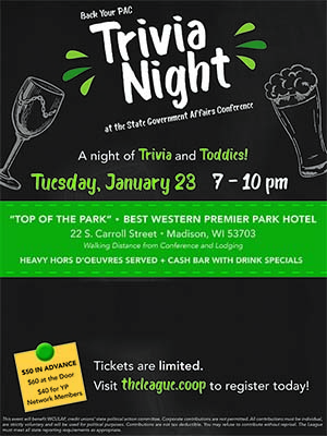 Join us Jan. 23 for a pre-GAC Trivia Night fundraiser!