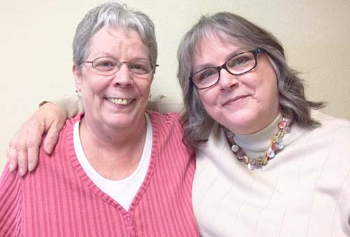 (L to R) Mary Wichman & Karen Raether
